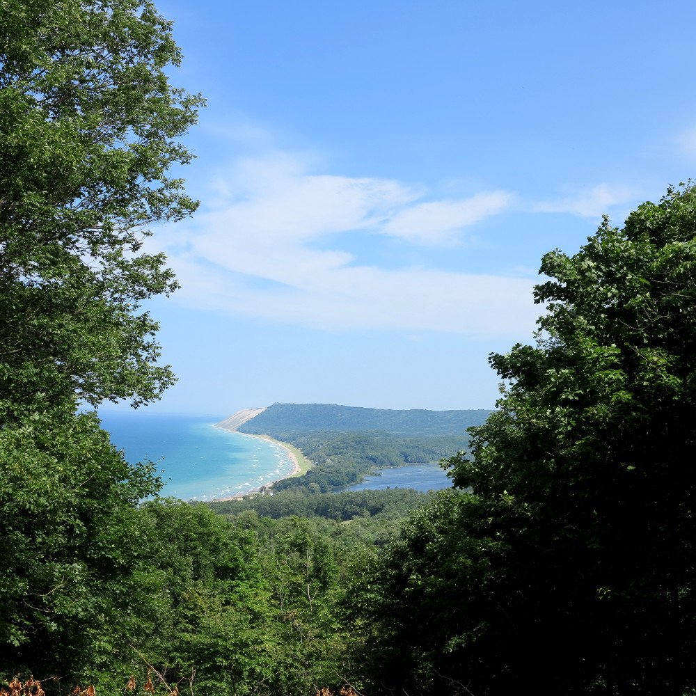 Bear Dunes National Lakeshore is located in the northwest corner of Michigan's Lower Peninsula about 25 miles west of Traverse City