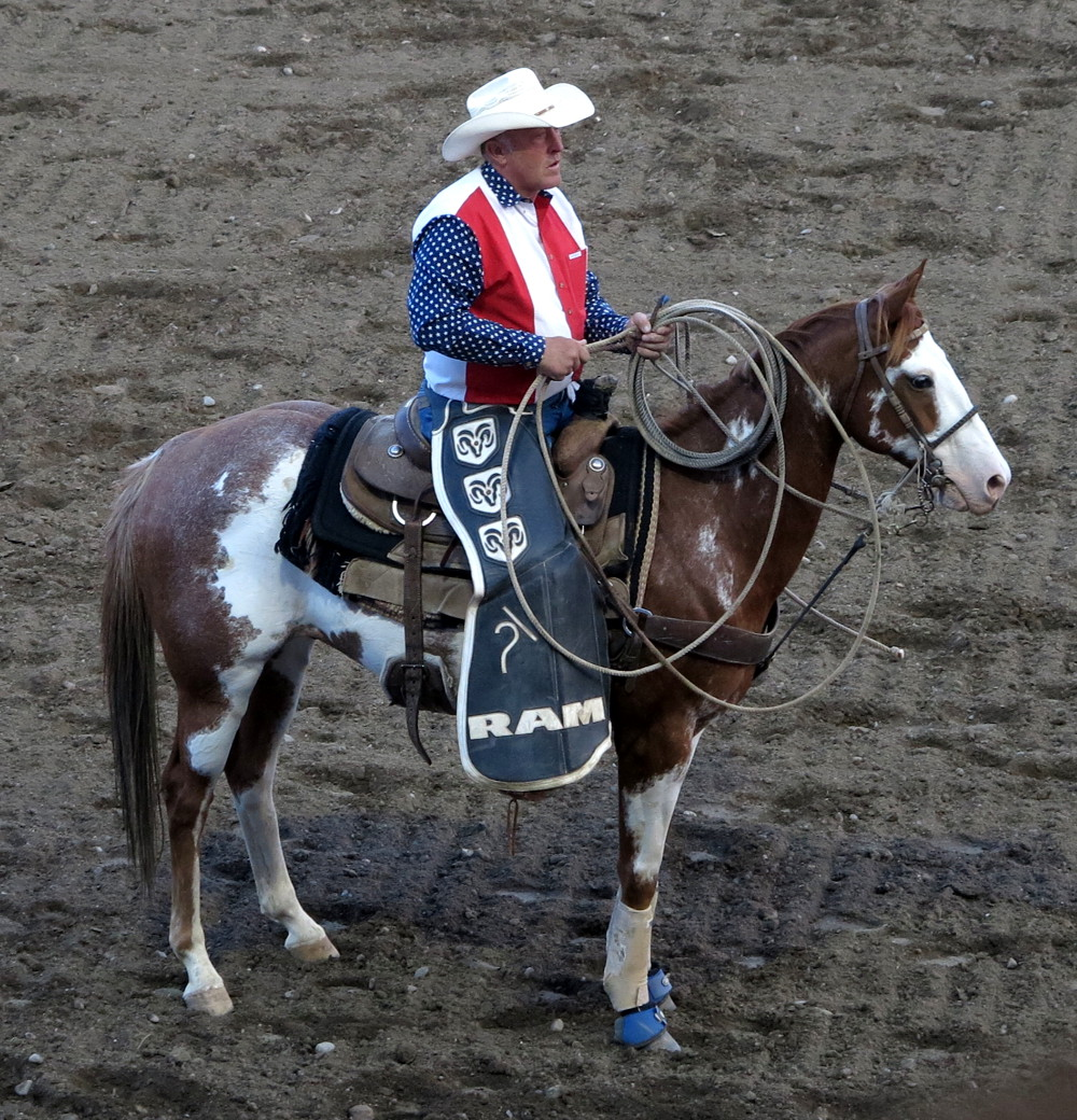 A cowboy ready for action at Cody rodeo Double-Barrelled Travel