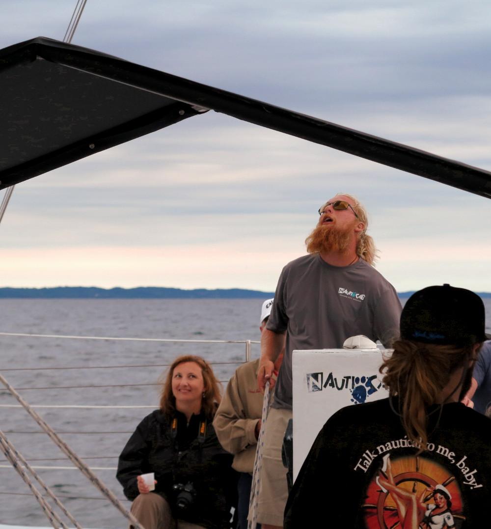 Captain Chien Captain Shane Nauti Cat Cruise Double-Barrelled Travel