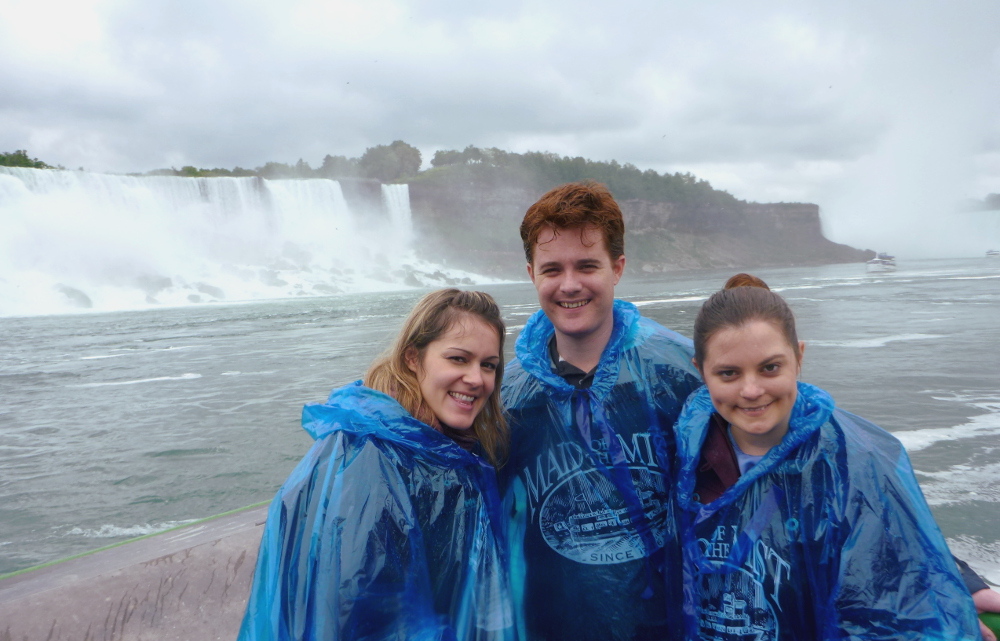 Carmen Dave and Diana at Niagara Falls Maid of the Mist tour Double-Barrelled Travel