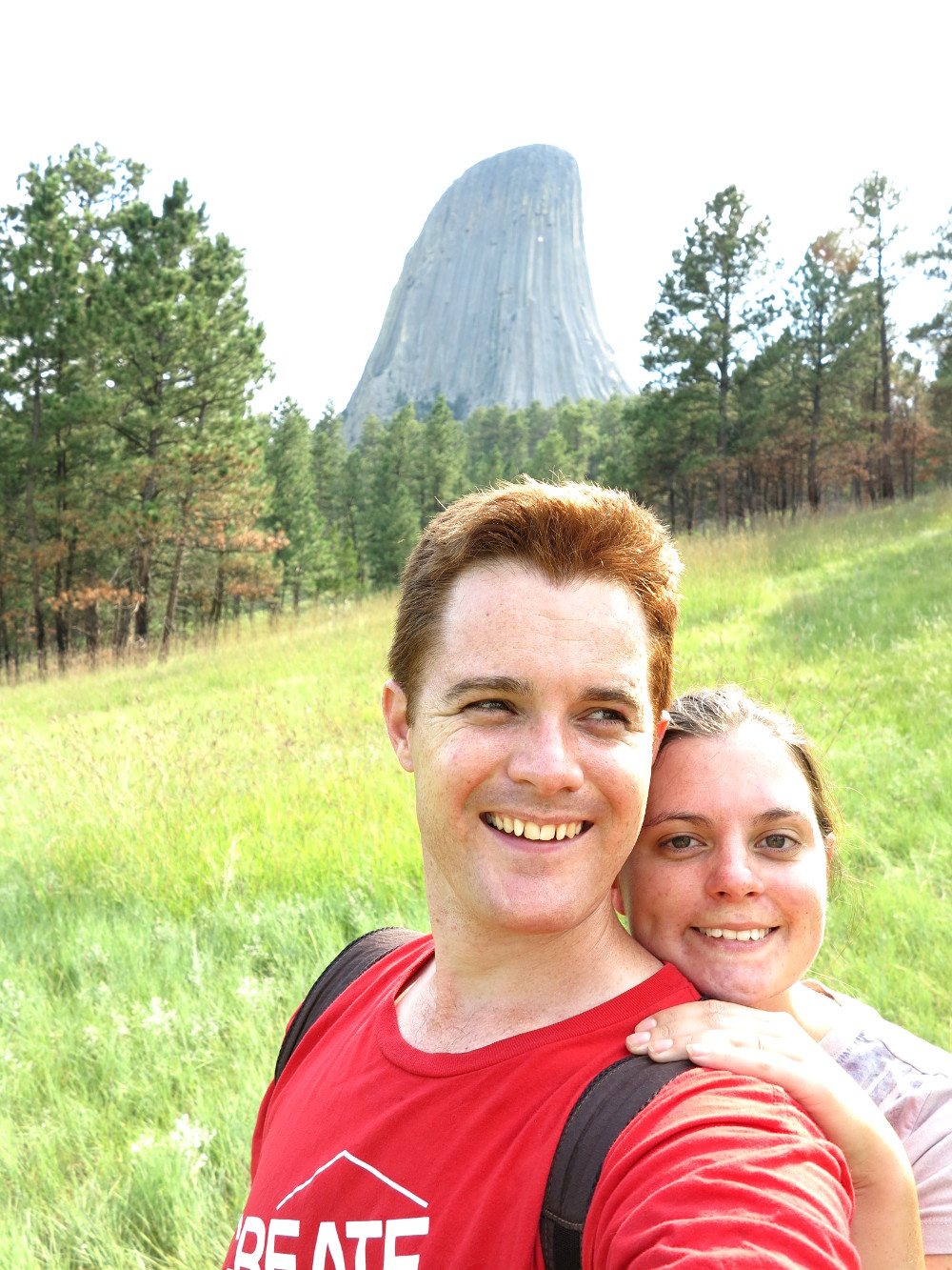 Carmen and Dave at Devils Tower Double-Barrelled Travel
