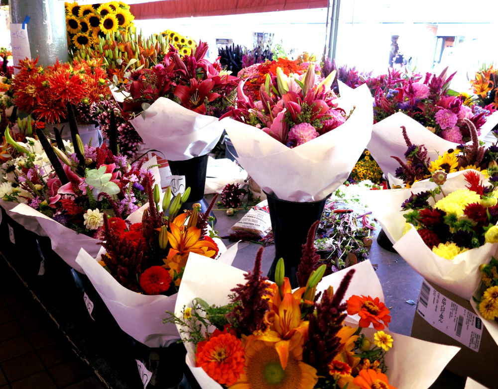 Flowers at Pike Place Market in Seattle Double-Barrelled Travel