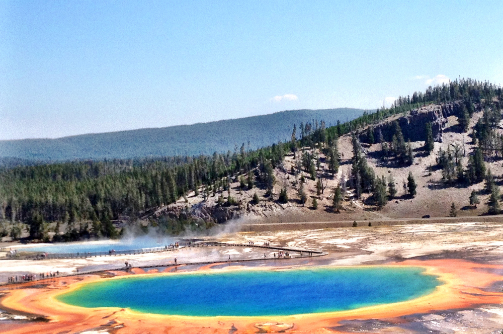Grand Prismatic Spring at Yellowstone Double-Barrelled Travel