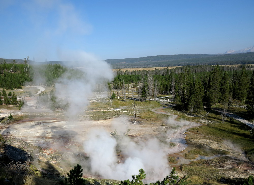 Artist's Paint Pots in Yellowstone Double-Barrelled Travel