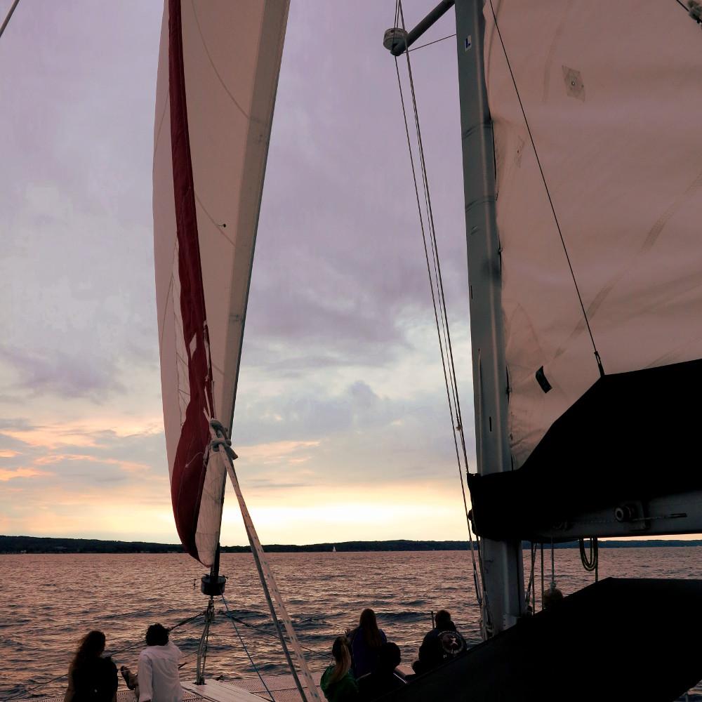 Nauti-Cat Cruise on Lake Michigan sunset Double-Barrelled Travel