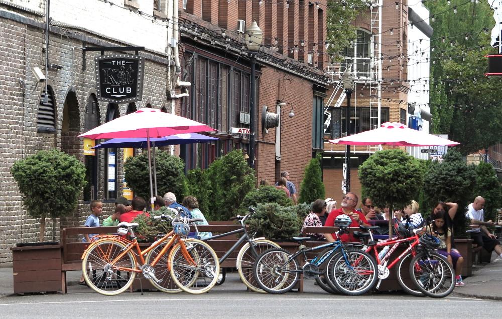 Portland street scene in Portland Double-Barrelled Travel