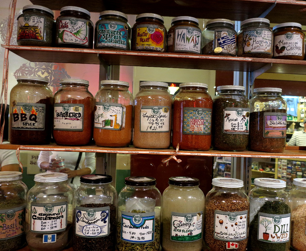 Spice and tea stall at Pike Place Market in Seattle Double-Barrelled Travel
