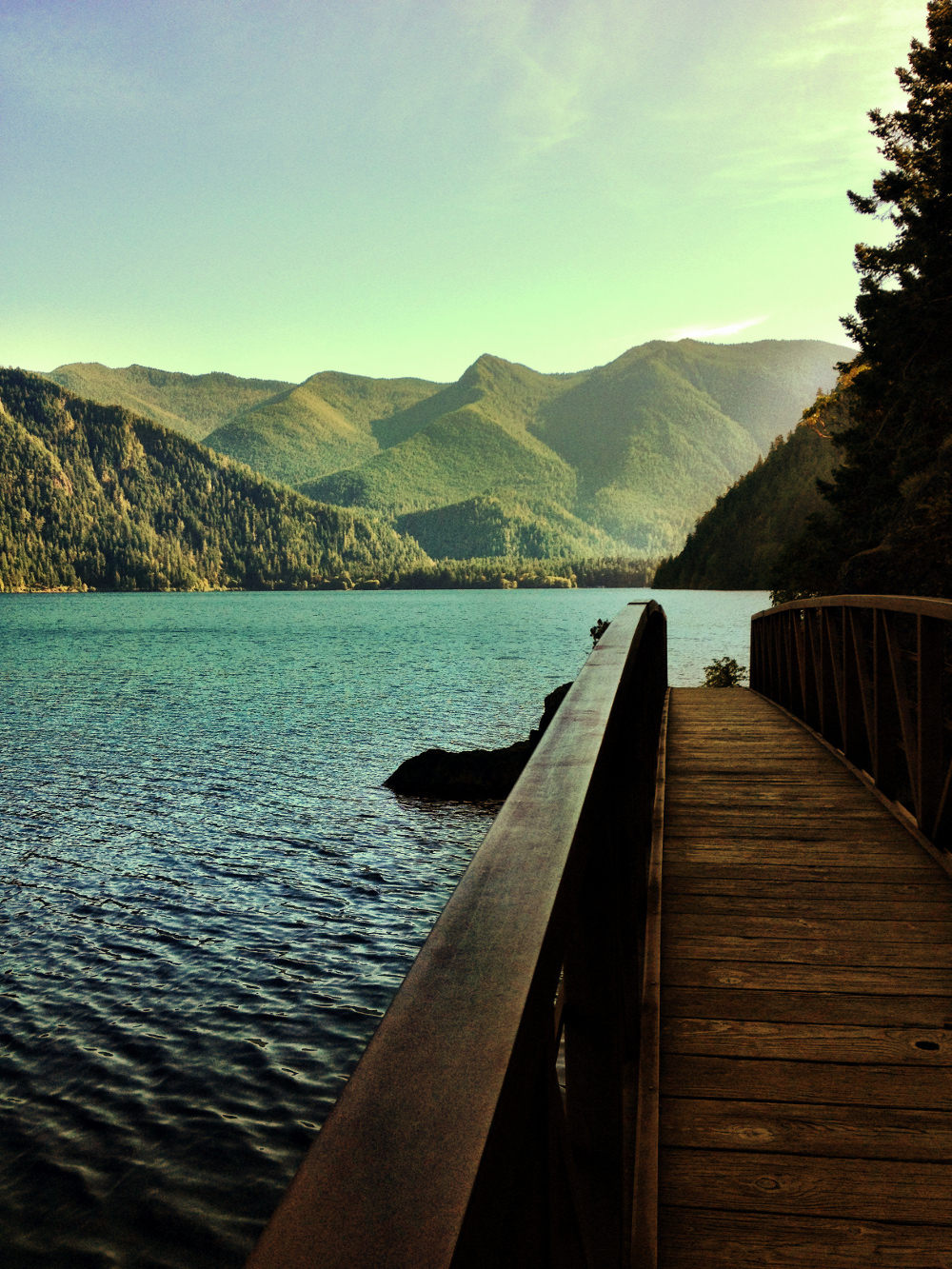 View over Lake Crescent on the Spruce Railroad Trail in Olympic National Park Double-Barrelled Travel