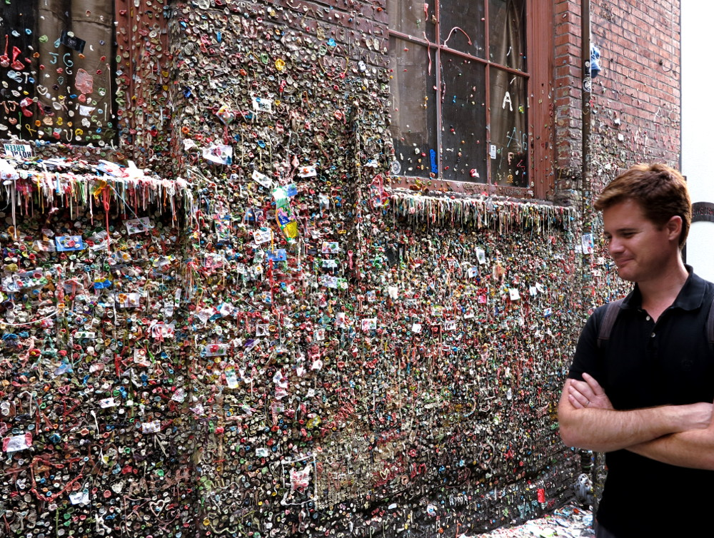 gum wall at Pike Place Market in Seattle Double-Barrelled Travel