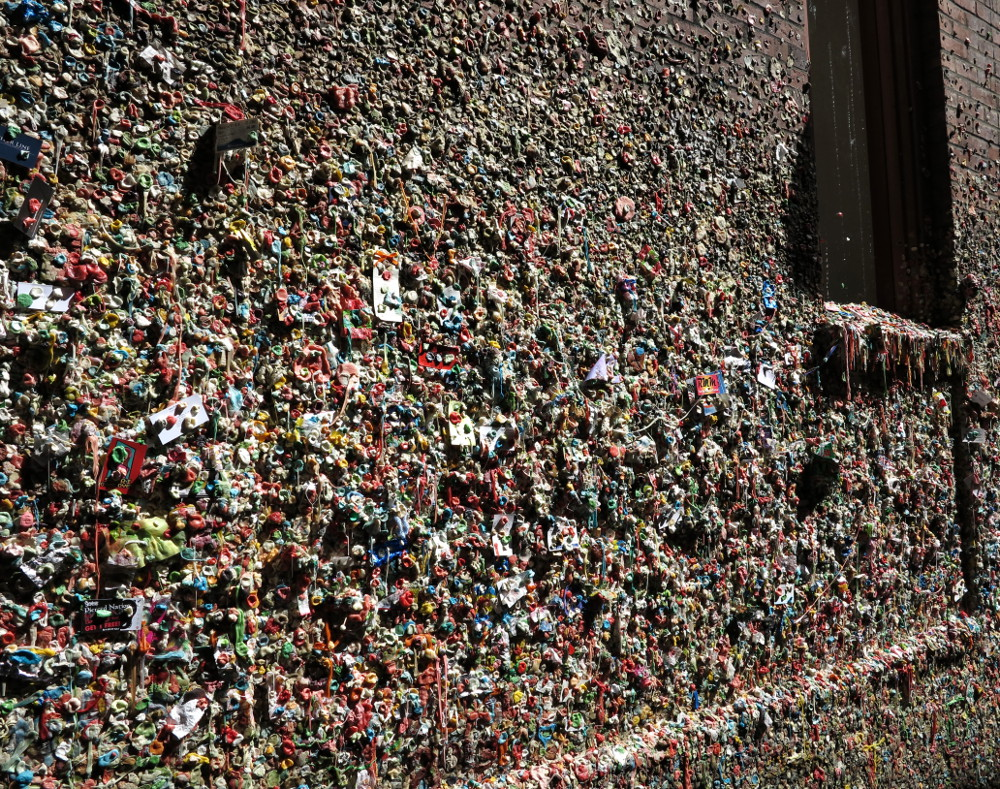 gum wall at Pike Place Market in Seattle Double-Barrelled Travel2