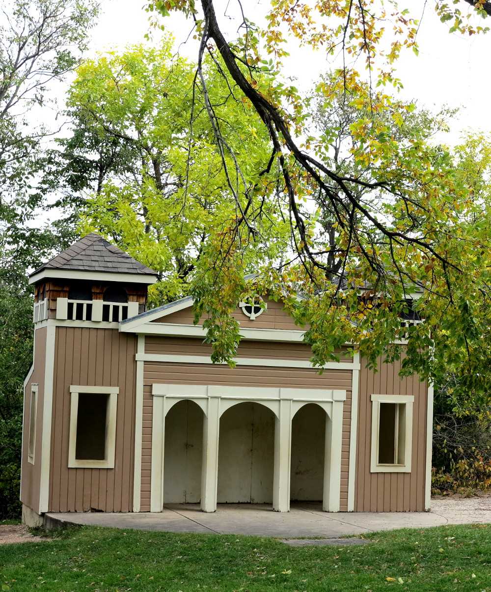 A building in the playground at the Chautauqua in Boulder Double-Barrelled Travel