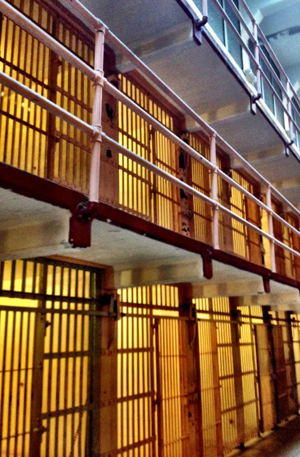Prison cells inside Alcatraz Double-Barrelled Travel