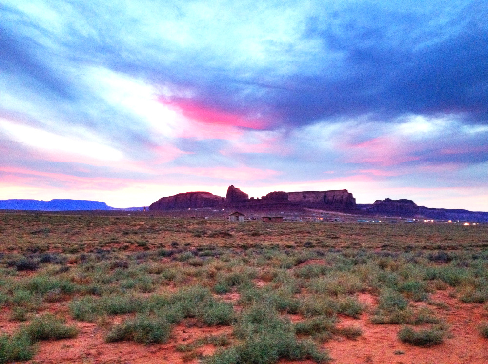 Sunset in Monument Valley Utah Double-Barrelled Travel