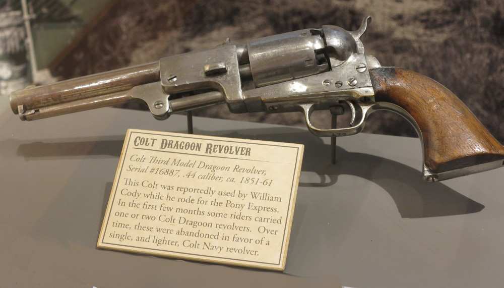 revolver used by Buffalo Bill Double-Barrelled Travel