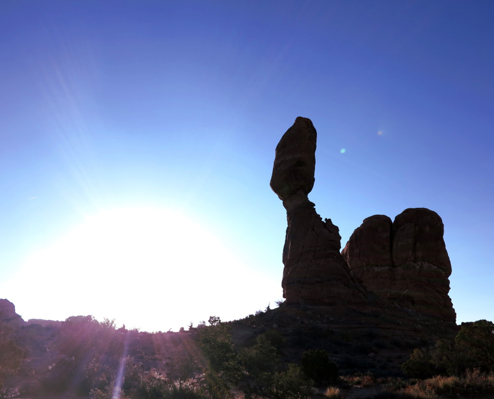 Balanced rock at Arches National Park Double Barrelled Travel
