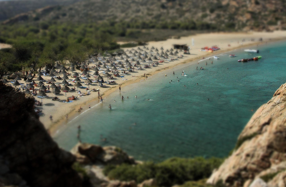 Beach on Crete Double-Barrelled Travel