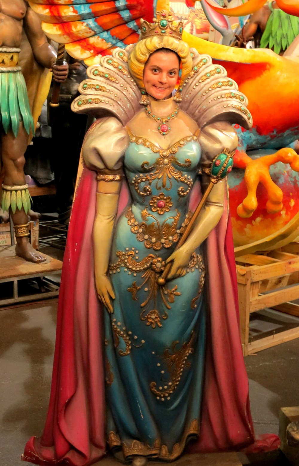 Being a princess at the Mardi Gras museum in New Orleans Double-Barrelled Travel