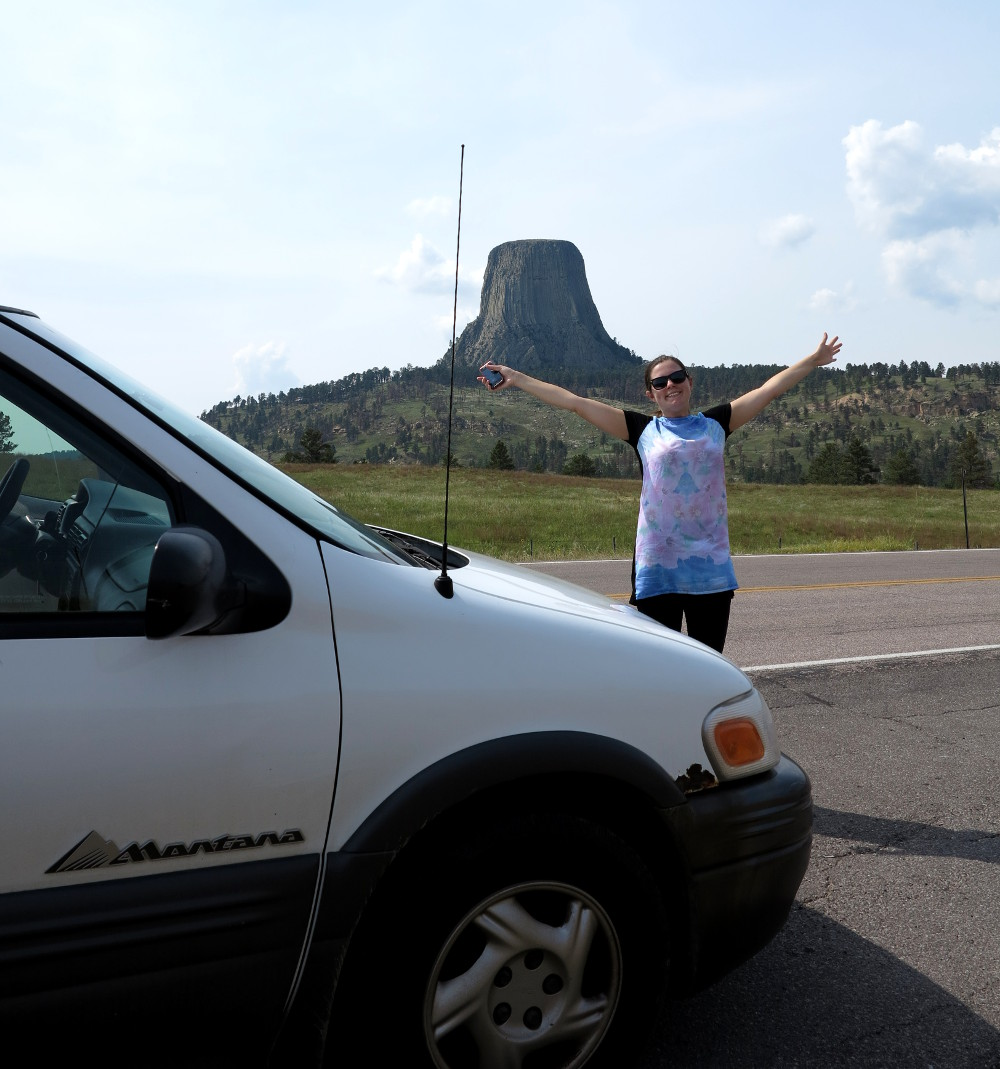 Camping near Devils tower Double-Barrelled Travel