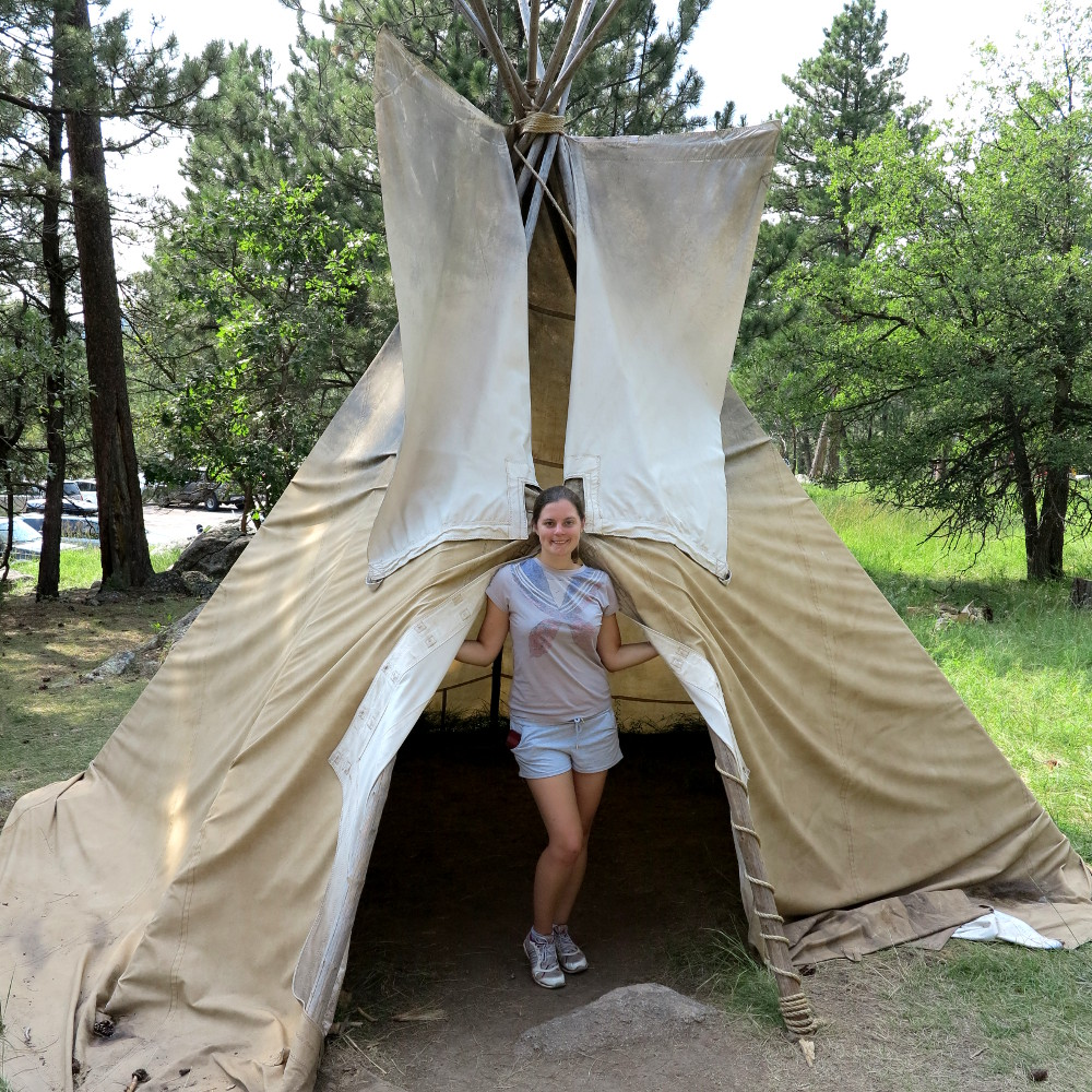Carmen in a teepee Double-Barrelled Travel