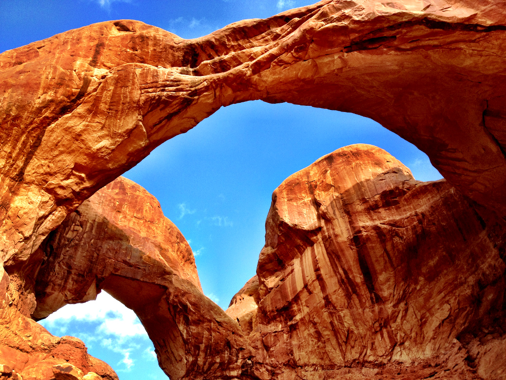 Double O Arch at Arches National Park Double Barrelled Travel