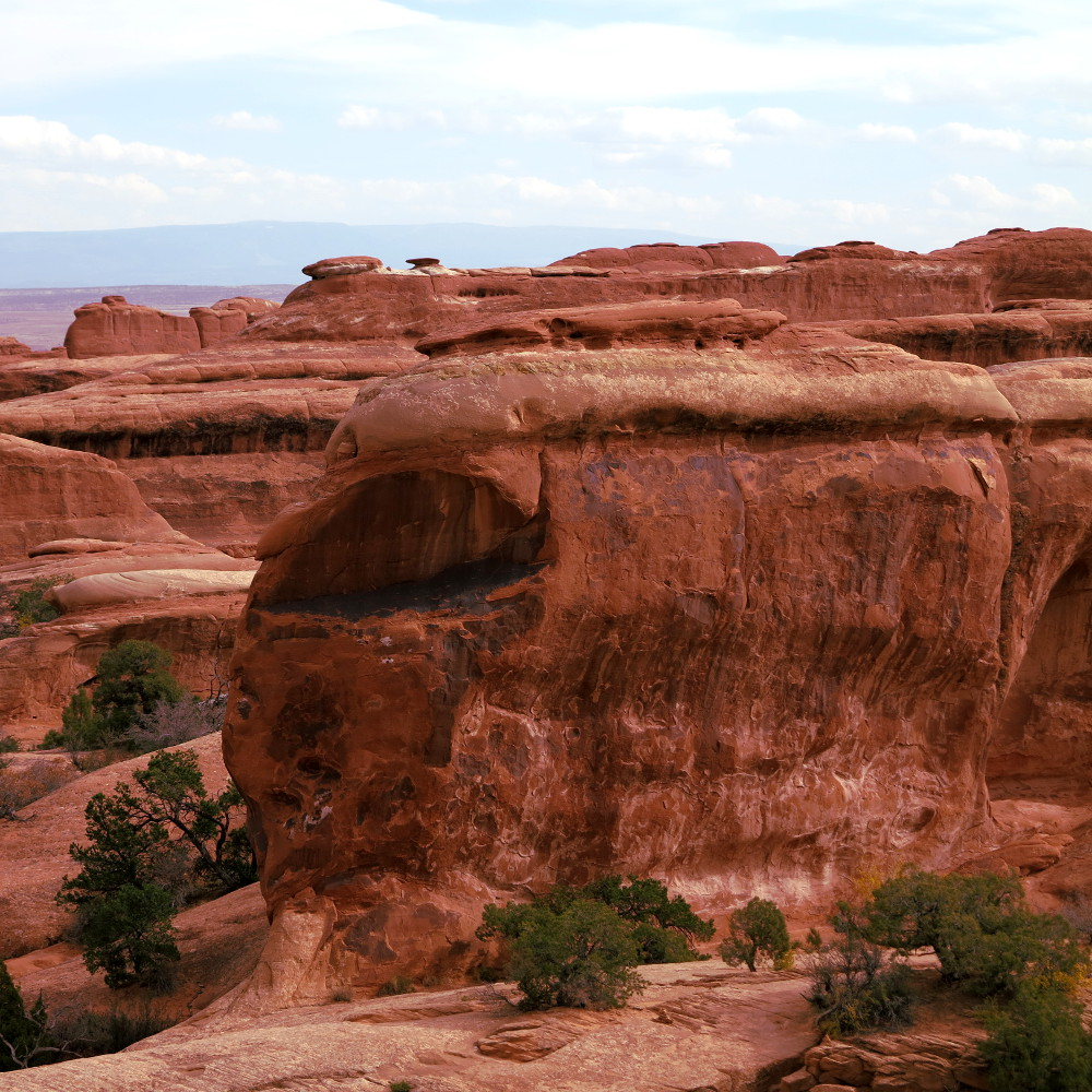 Faces in the rock 2 at Arches National Park Double Barrelled Travel
