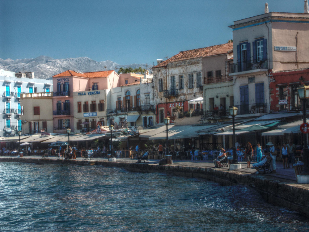 Harbour in Crete Double-Barrelled Travel