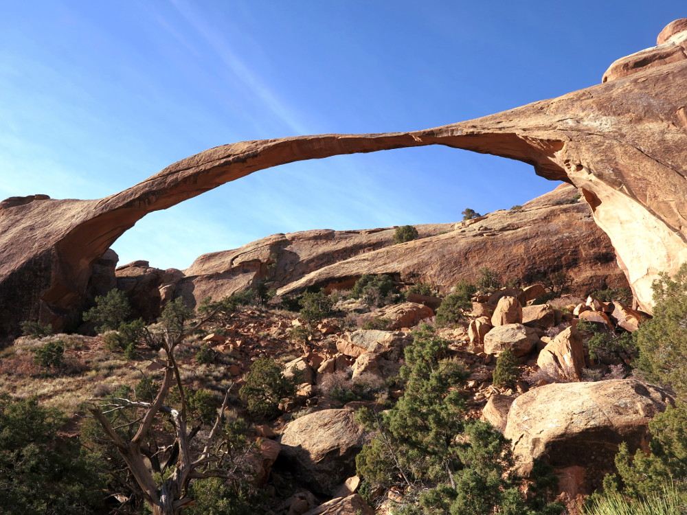 Landscape arch at Arches National Park Double Barrelled Travel