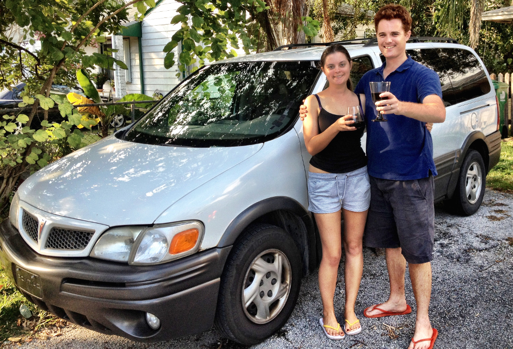 Our car in the USA Double-Barrelled Travel