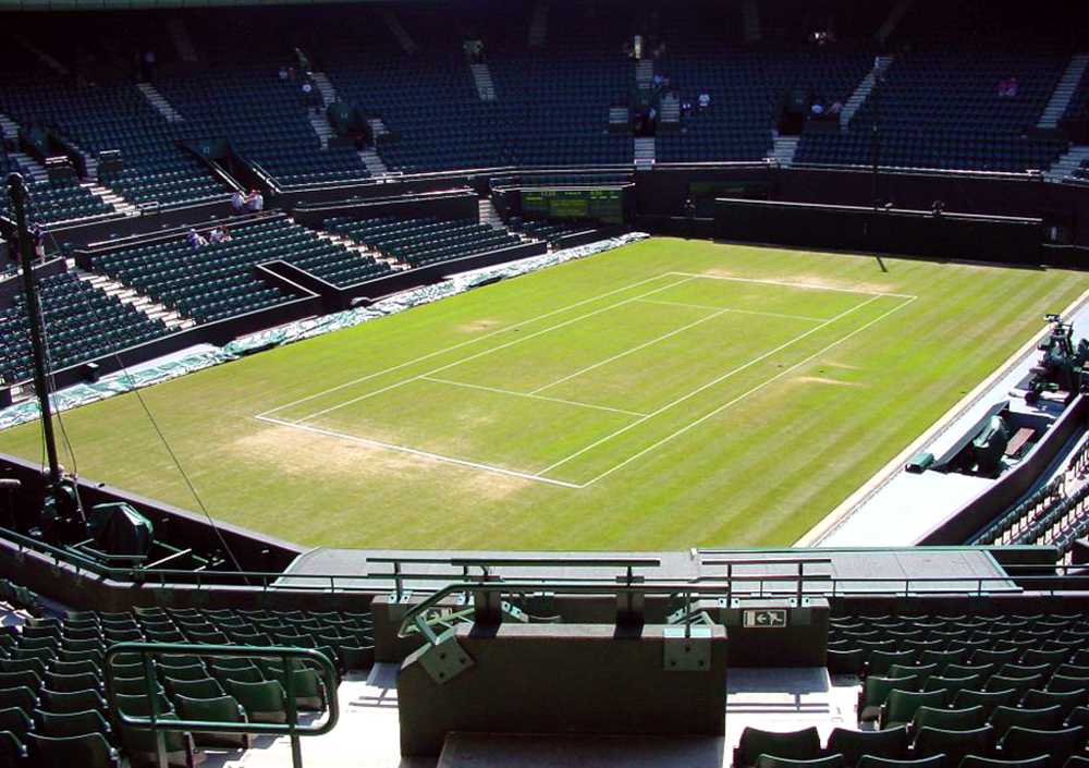 Wimbledon tennis court Double-Barrelled Travel