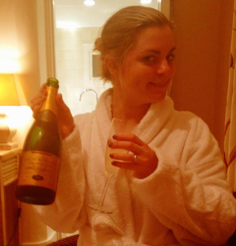 splurging on champagne Double-Barrelled Travel