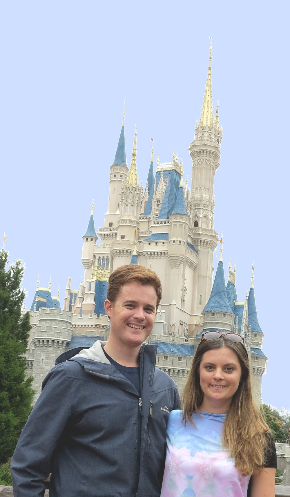 Carmen and Dave at Disneyworld Double-Barrelled Travel