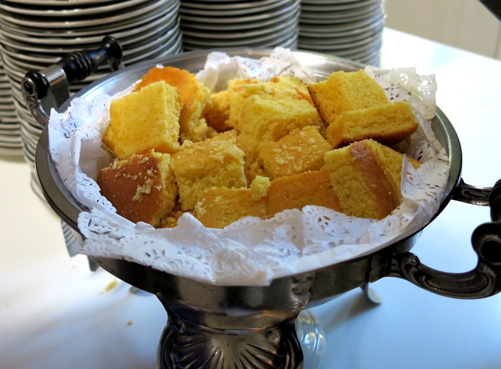 Corn bread at The Court of Two Sisters Double-Barrelled Travel