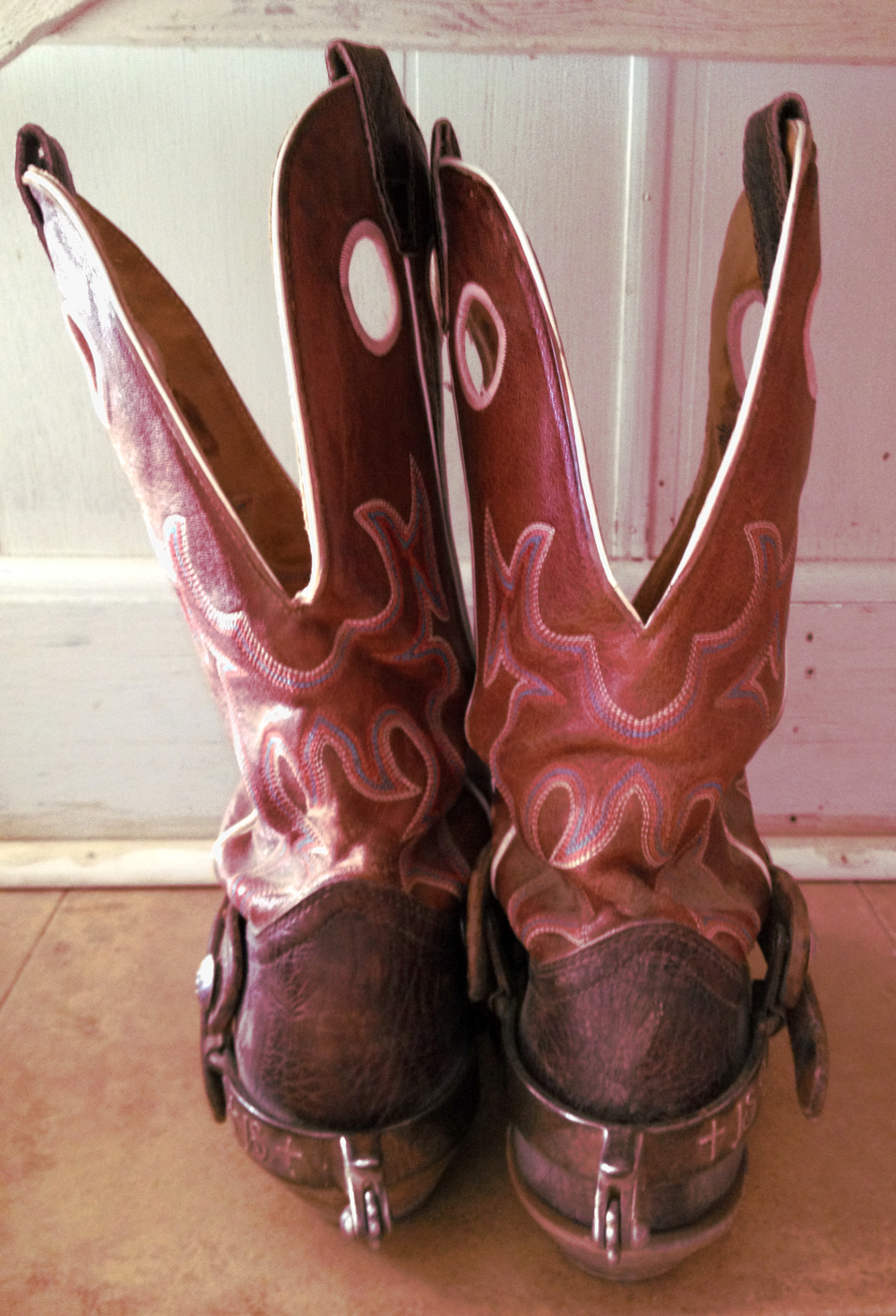 Cowboy boots on a Texas Ranch Double-Barrelled Travel