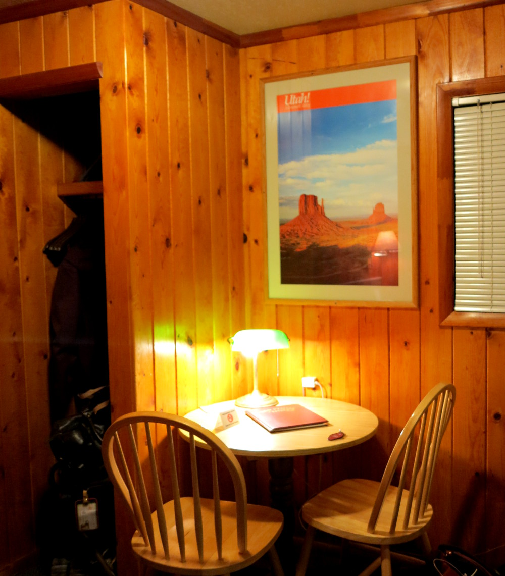 Desk at the Redstone Inn in Moab Double-Barrelled Travel