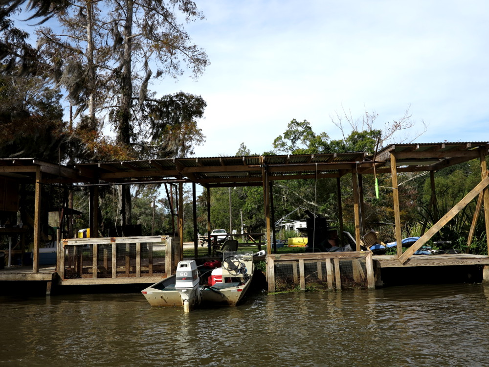 Fishing village Cajun Encounters swamp tour Double-Barrelled Travel