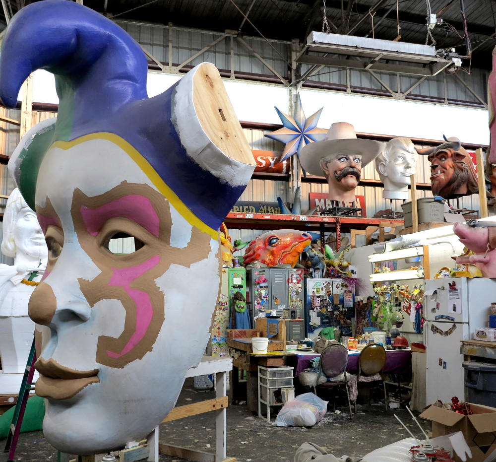 Inside the workshop at Mardi Gras World New Orleans Double-Barrelled Travel