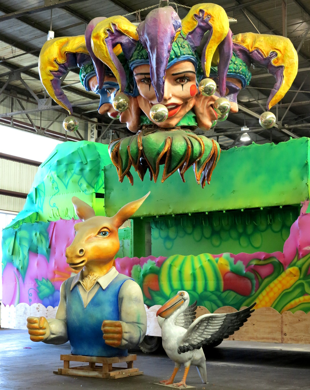 Jester mask at Mardi Gras World New Orleans Double-Barrelled Travel
