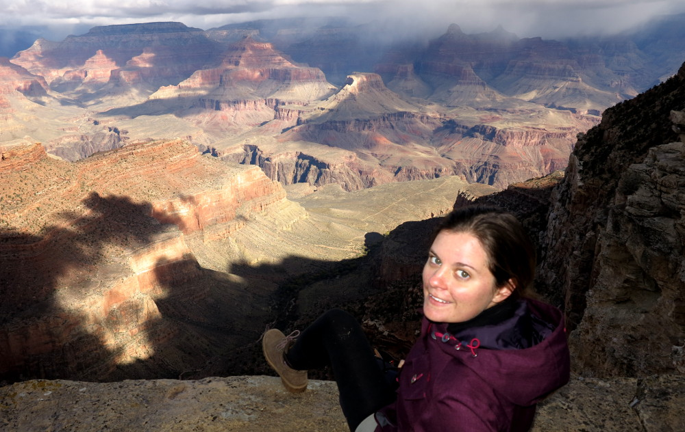 Looking out over the Grand Canyon Double-Barrelled Travel
