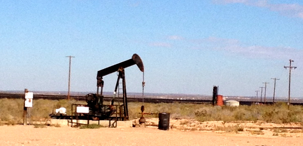 Oil fracking near a Texas Ranch Double-Barrelled Travel