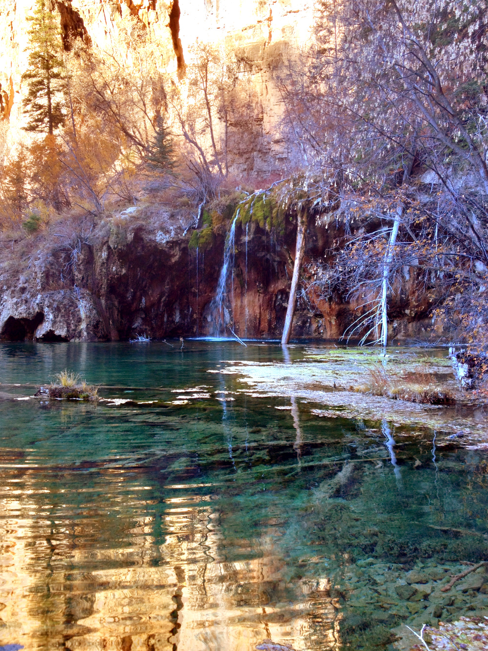 Reflections of Hanging lake Double-Barrelled Travel