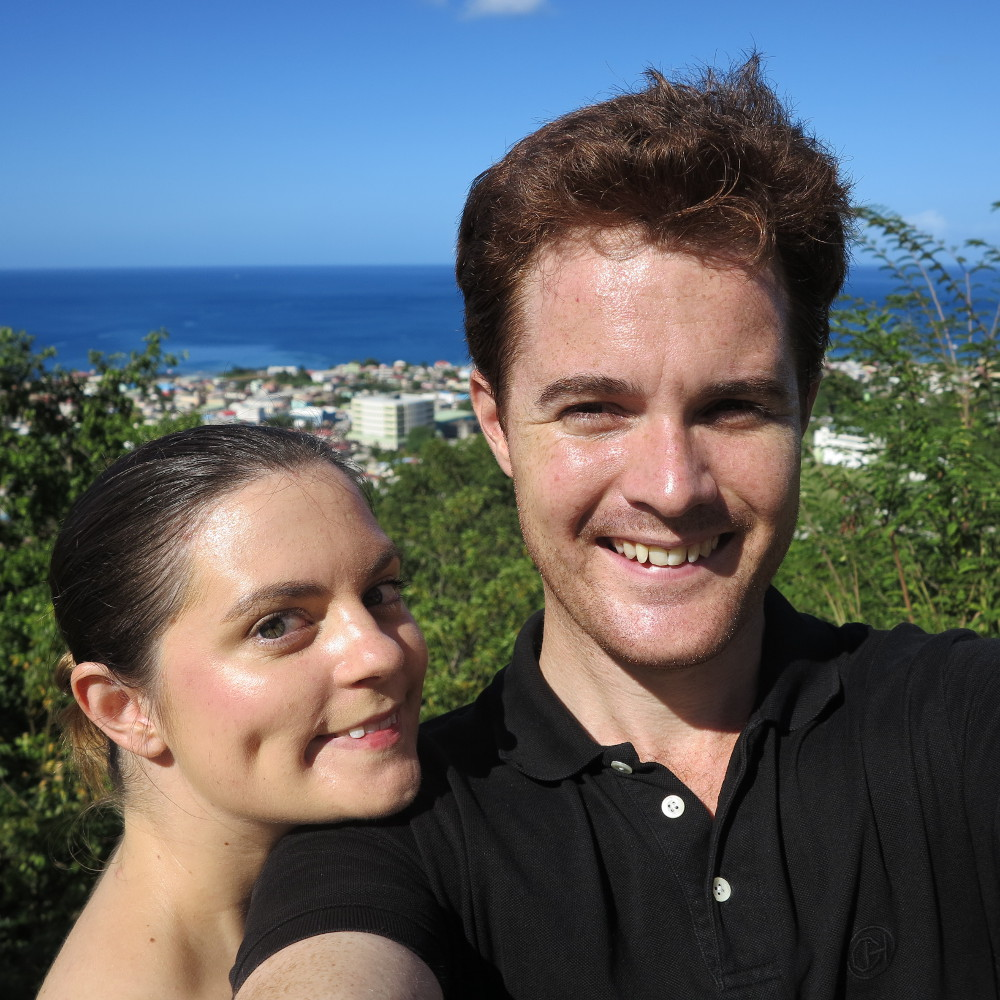 Selfie on our island home of Dominica Double-barrelled Travel