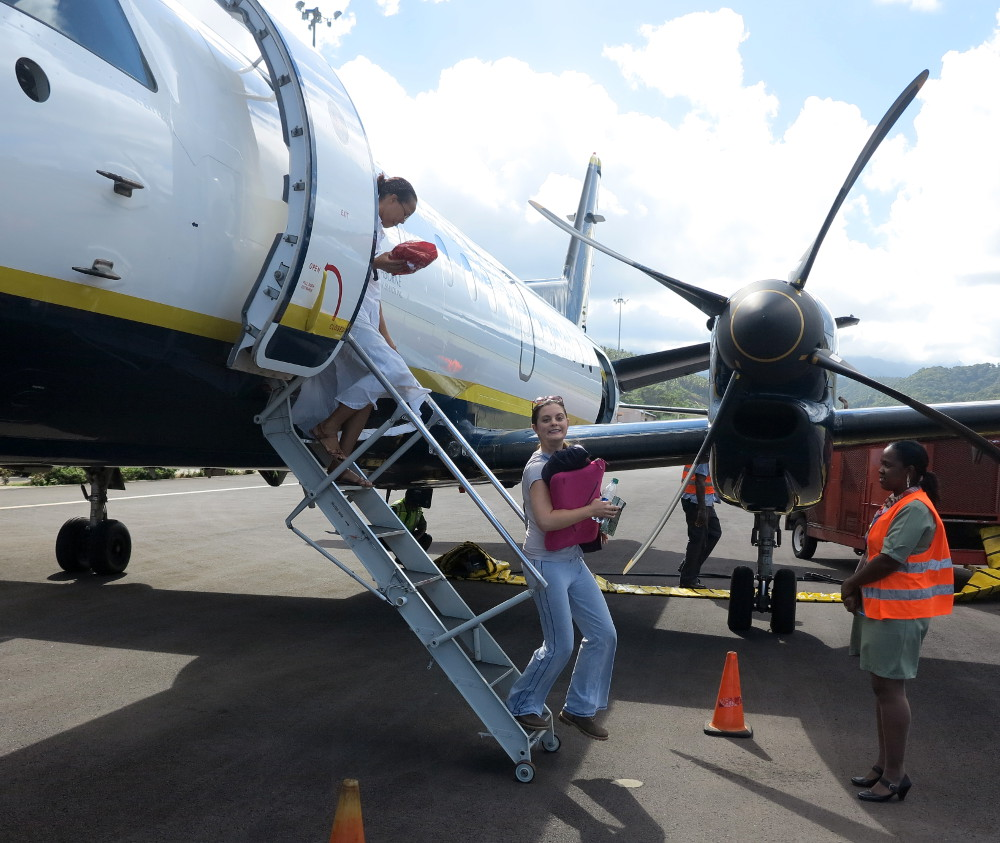 Stepping off the plane in Dominica Double-barrelled Travel