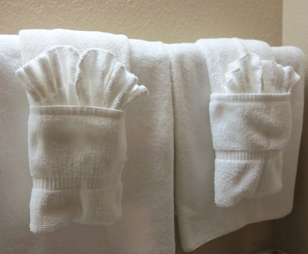 Towels at the Redstone Inn in Moab Double-Barrelled Travel