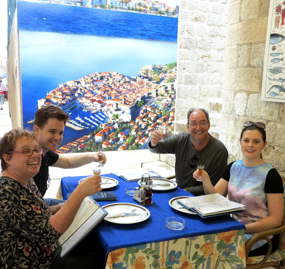 With Dave's parents in Dubrovnik Double-Barrelled Travel