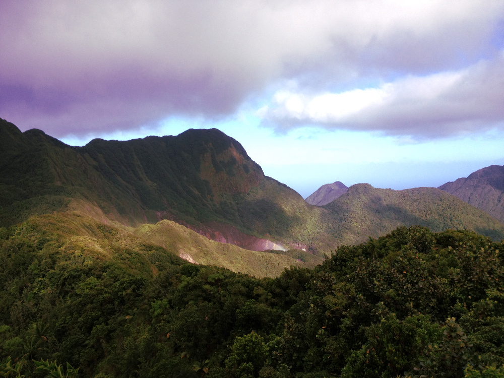 Boiling Lake Dominica hike view Double-Barrelled Travel