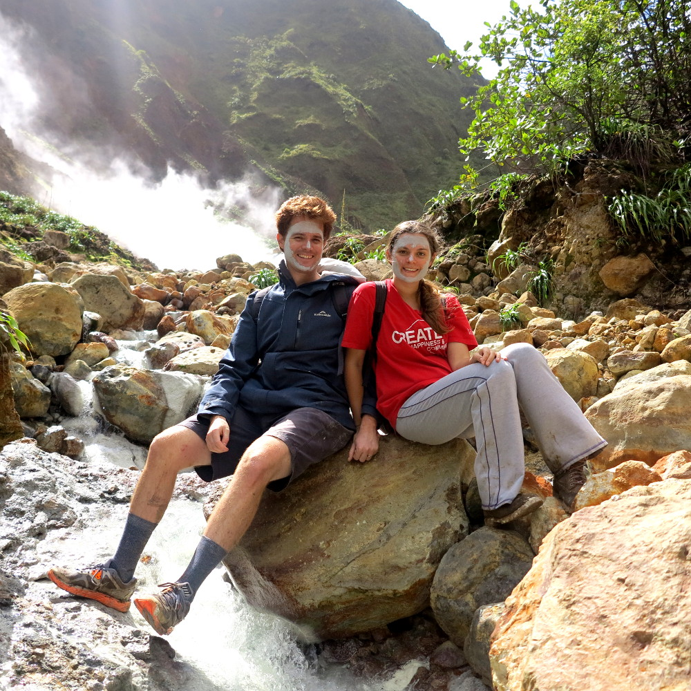 Carmen and Dave Valley of Desolation Dominica Double-Barrelled Travel