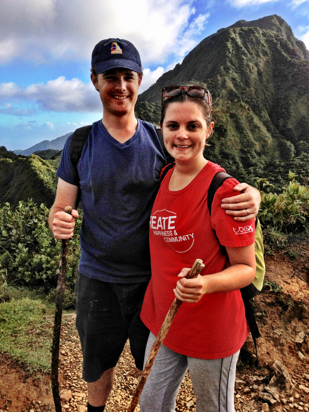 Carmen and Dave hike Boiling Lake Dominica Double-Barrelled Travel