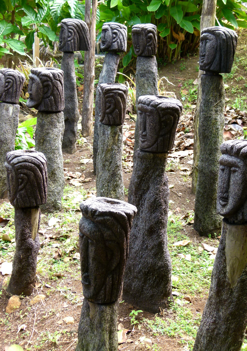 Kalinago territory statues Dominica Double-Barrlled Travel