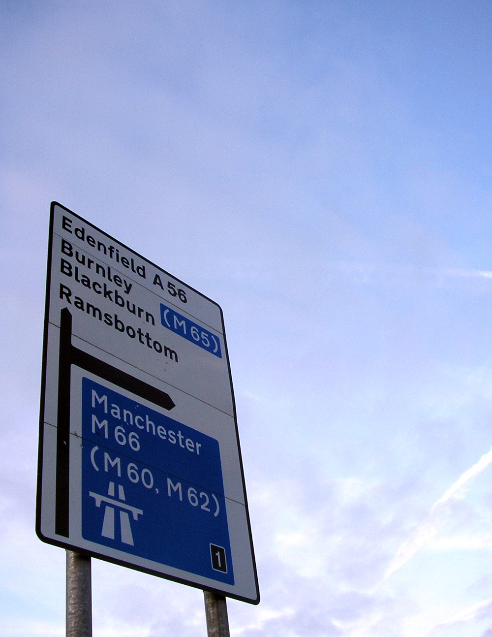 Manchester street sign Double-Barrelled Travel