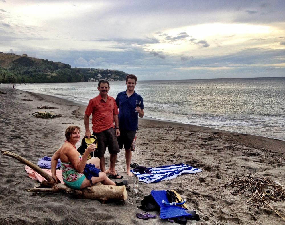 Mero beach Dominica Double-Barrelled Travel